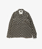 Cut Off Bottom Classic Shirt - Navy Cu/Ac Jacquard/Fine Pattern