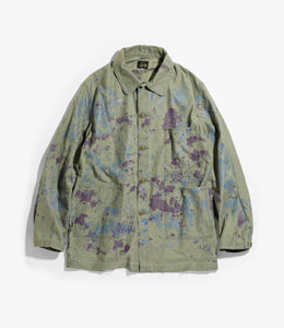D.N. Coverall - Olive Back Sateen / Paint