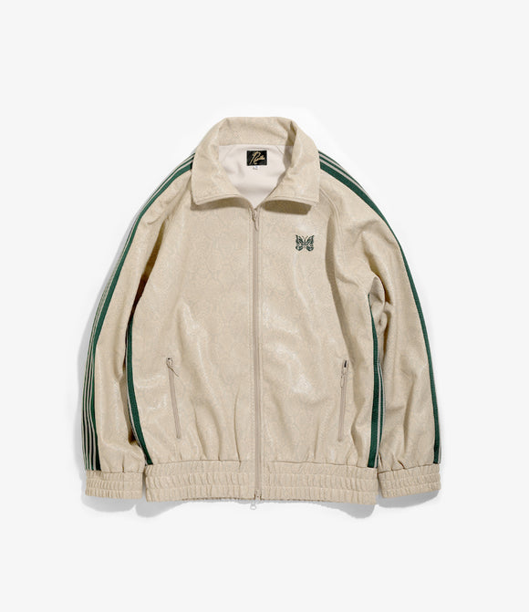 Track Jacket - Beige Synthetic Leather / Python