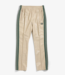 Narrow Track Pant - Beige Synthetic Leather / Python