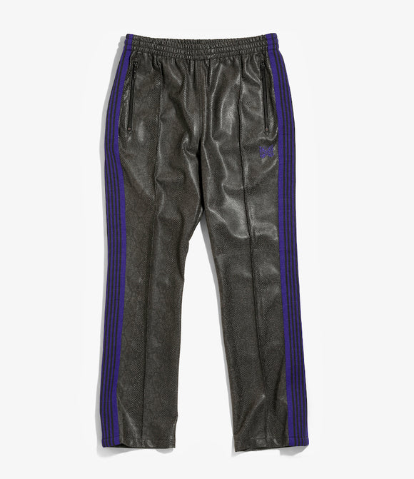 Narrow Track Pant - Grey Synthetic Leather / Python