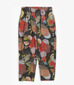 Studio Pant - Black Multi Ethnic Hand Stitch
