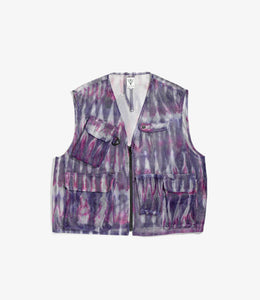 Mesh Bush Vest - Tie Dye Poly Heavyweight Mesh / Print