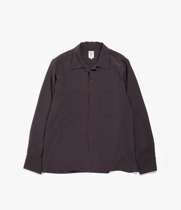 One Up Shirt - Purple Poly Crepe Cloth
