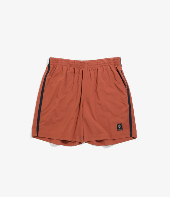 Side Line Trail Short - Brick N/Pu Elastic Taffeta
