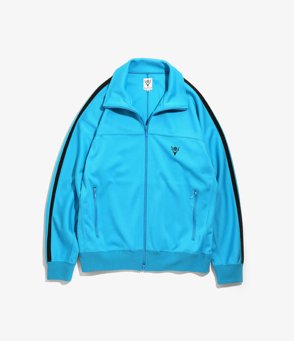 Trainer Jacket - Turquoise Poly Smooth