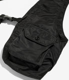 Shoulder Vest - Black Flight Satin Nylon