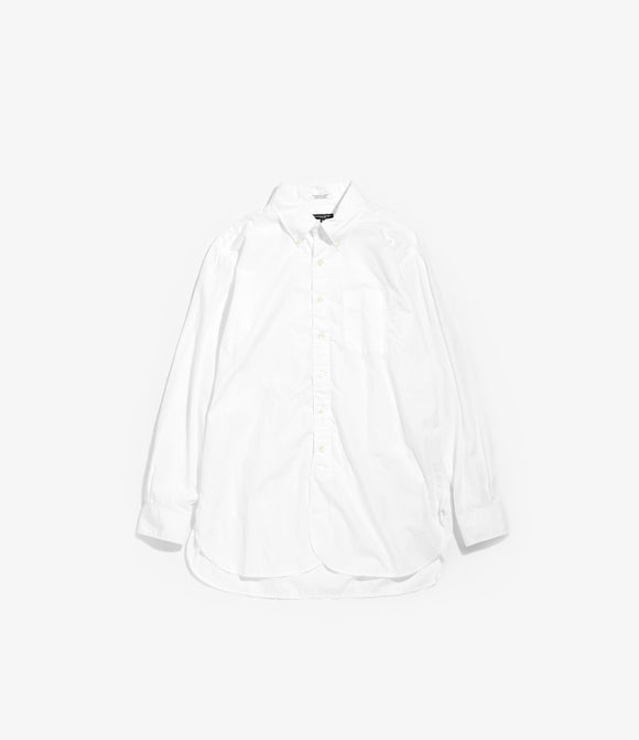 19th Century BD Shirt - White 100's 2Ply Broadcloth