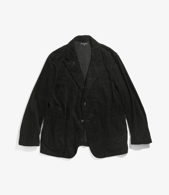 Bedford Jacket - Black Cotton 8W Corduroy