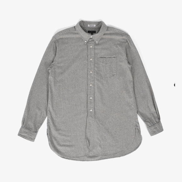 19th Century BD Shirt - Lt. Grey Brushed Cotton Twill