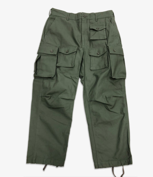 FA Pant - Olive Cotton Reverse Sateen