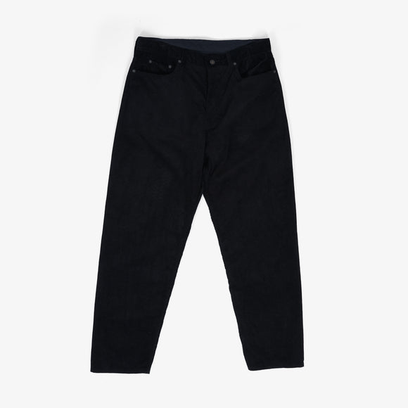 Wide Peg Jean - Black 14W Corduroy