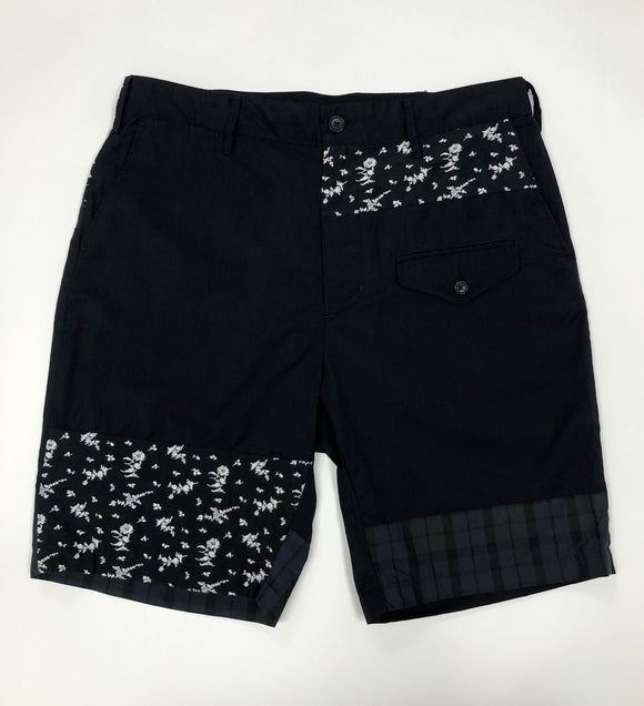Ghurka Short - Dark Navy Tropical Wool / Combo