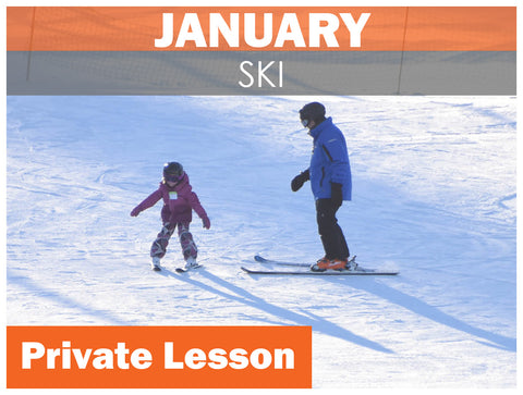 JANUARY WEEKEND Private SKI Lesson AGES 7+