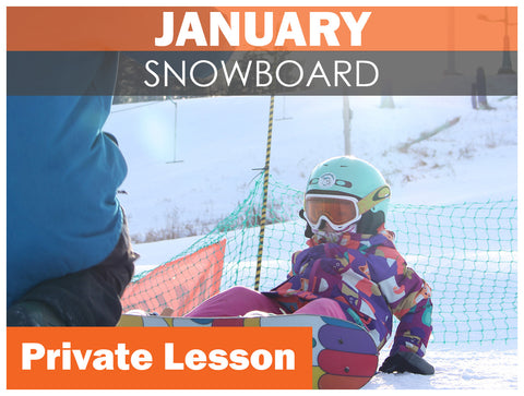JANUARY WEEKEND Private SNOWBOARD Lesson