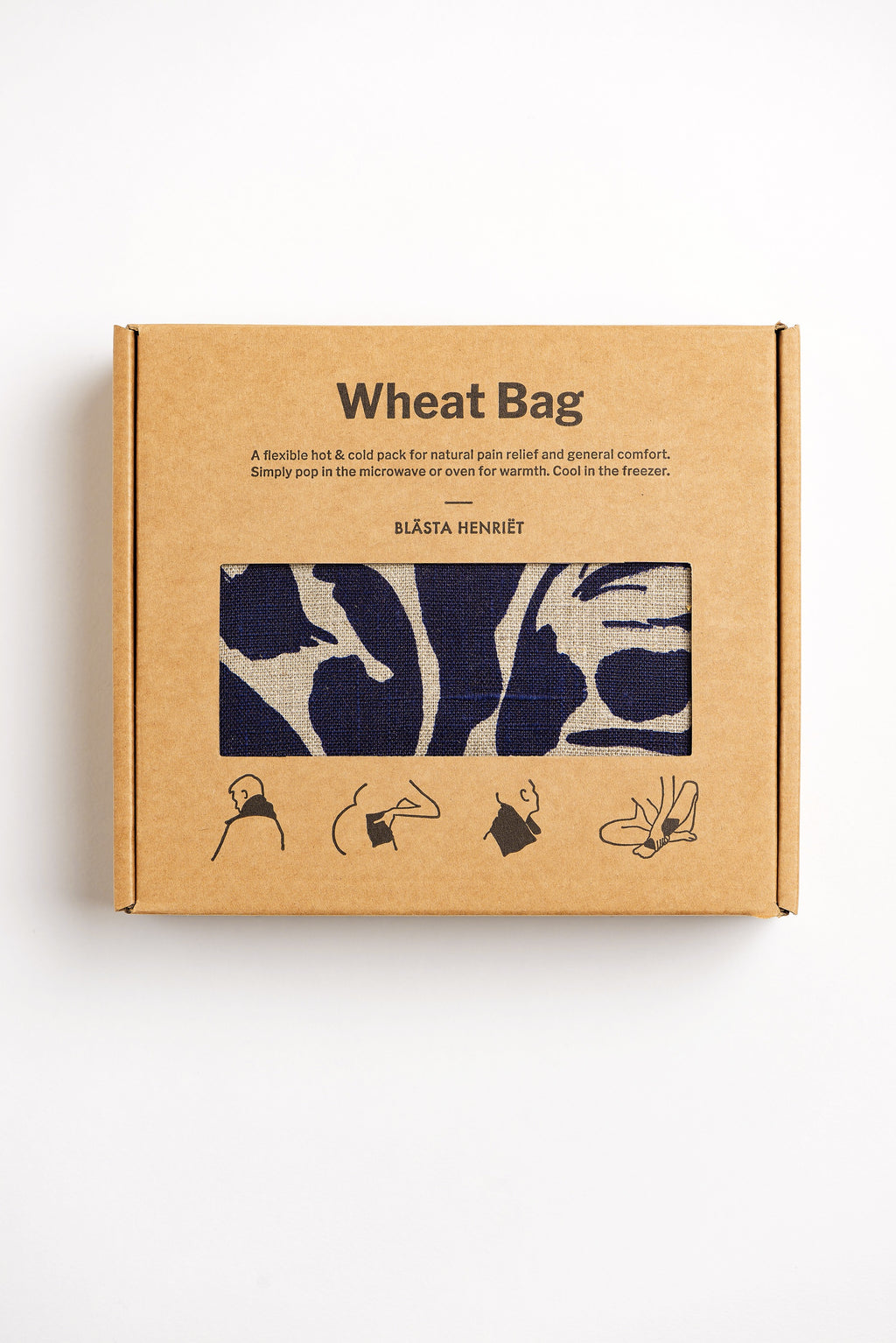 Wheat Bag Navy Linen