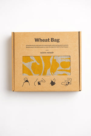Wheat Bag Yellow Linen