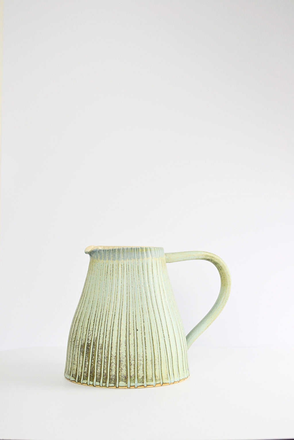 Large Stoneware Jug in Blue Grey