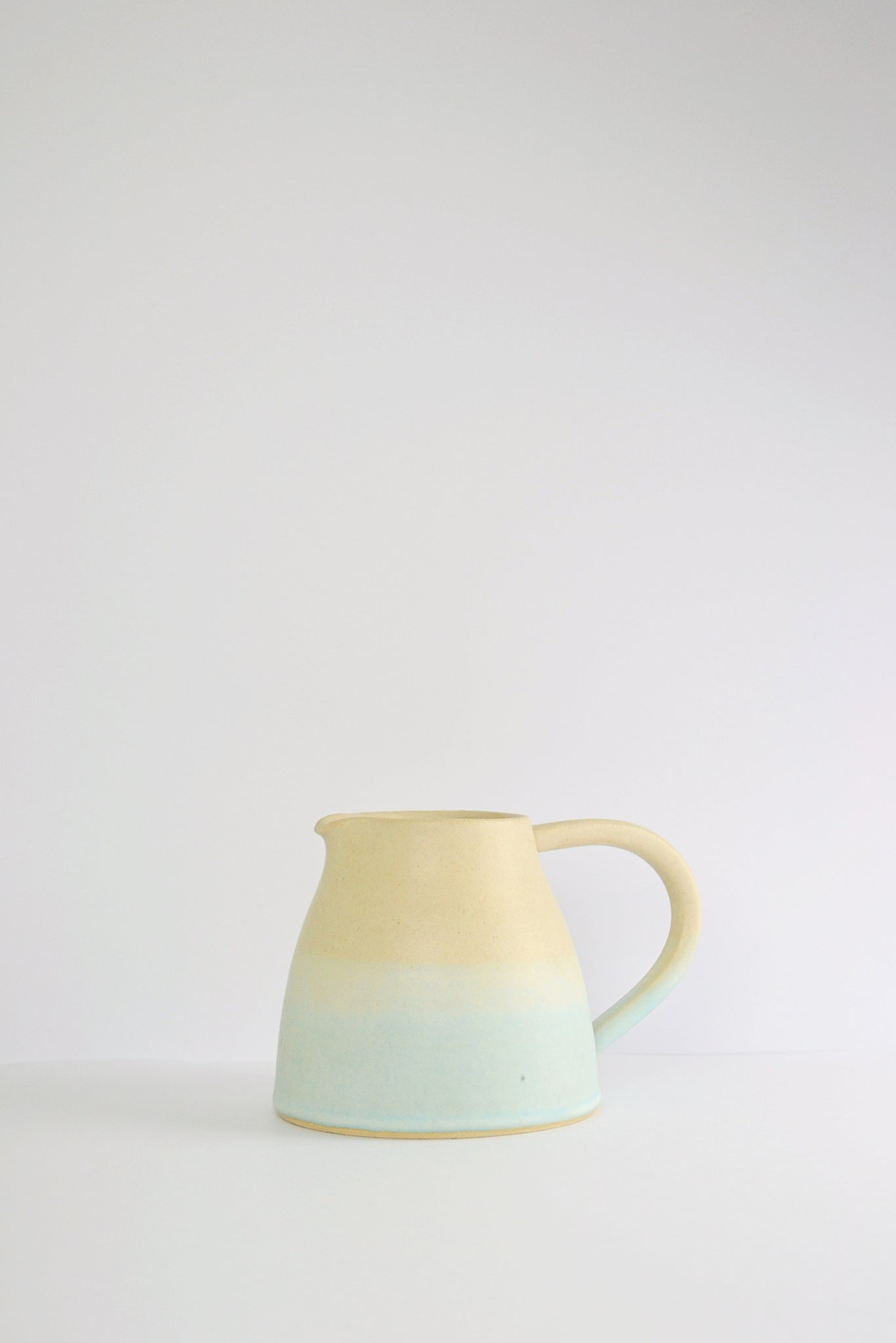 Small Light Blue and Ash Jug