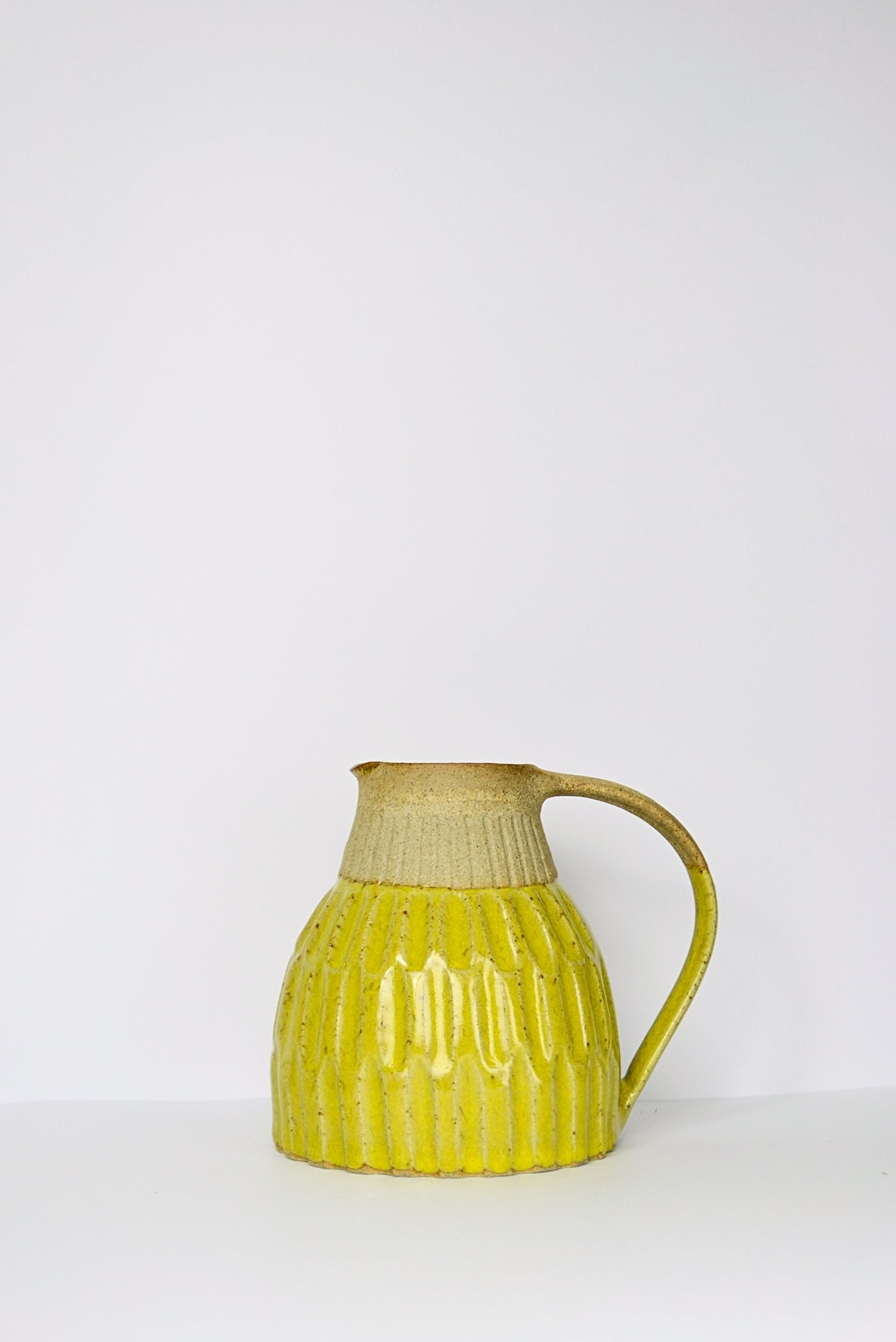 Green Dimple Jug