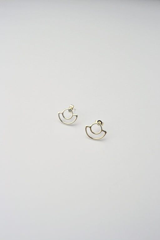 Saturn Earrings Silver
