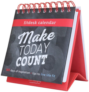 Fitlosophy Make Today Count 365 Day Inspirational Perpetual Desk
