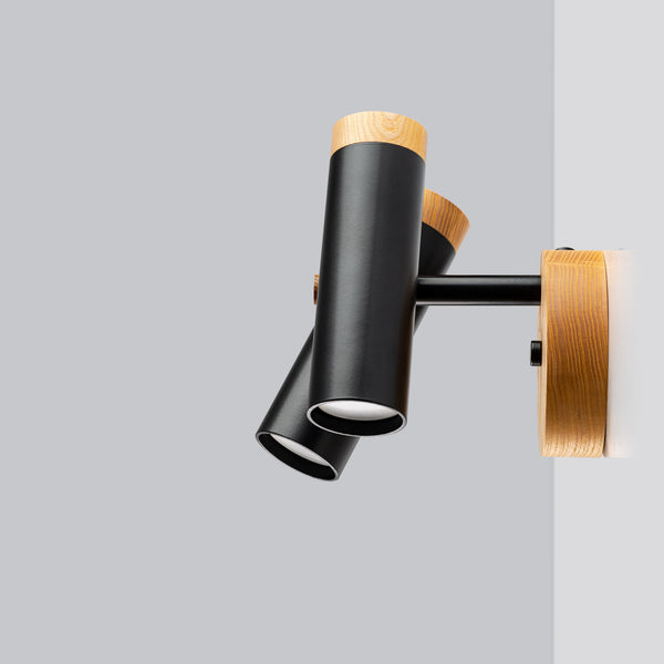 The Nordic Double Wall/Ceiling Sconce - Black