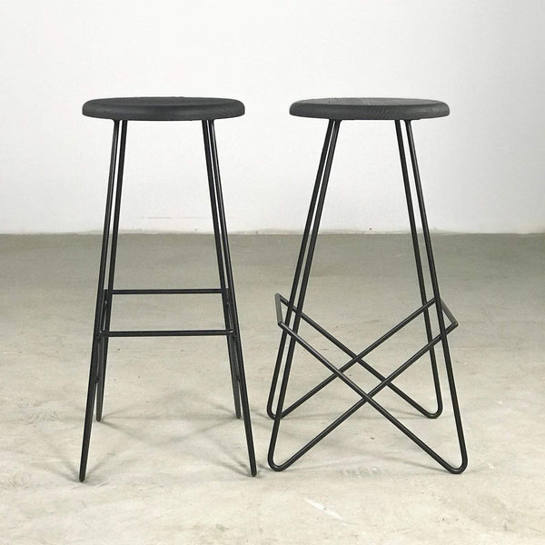 The Minimal Bar Stool - Black