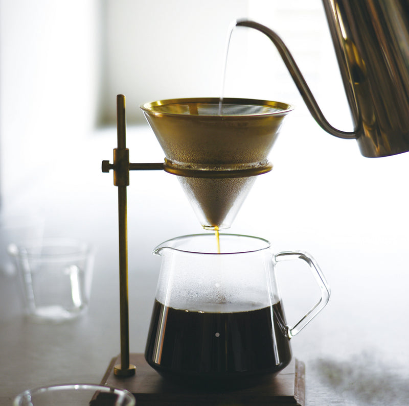 The Pour Over Set - Brass