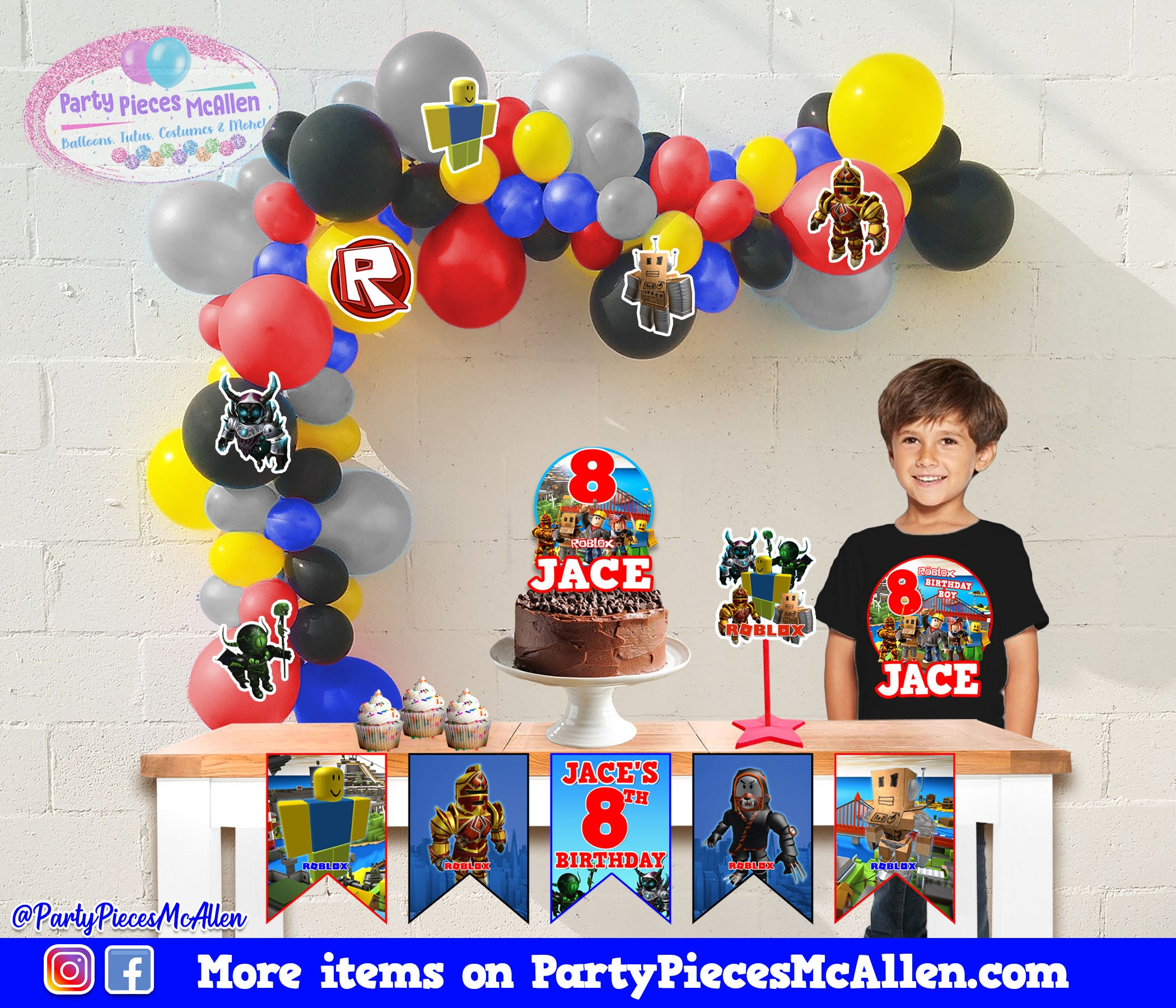 Roblox Balloon Garland Package Party Pieces Mcallen