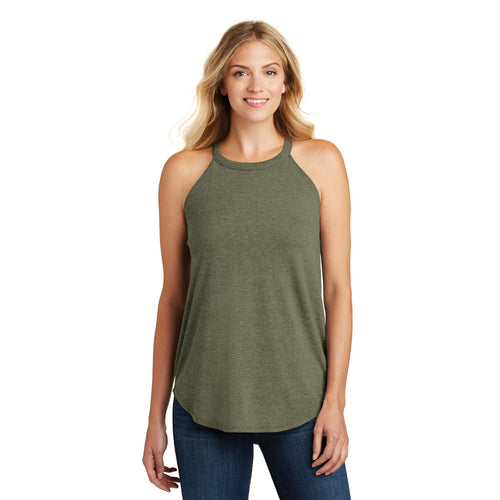 Women's Perfect Tri Rocker Tank in Navy, Blush or Military Green