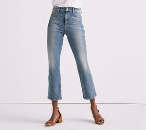 Lucky Brand Bridgette High Rise Crop Flare Jean In Rio Rancho