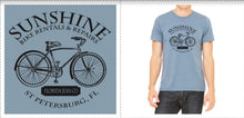 Load image into Gallery viewer, T Shirt Living the Dream St Petersburg FL - Sunshine Bike Rental & Repair