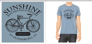 T Shirt Living the Dream St Petersburg FL - Sunshine Bike Rental & Repair