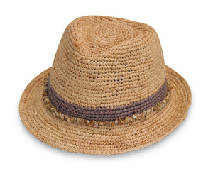 Tahiti Raffia Fedora - Red, Black, or Taupe