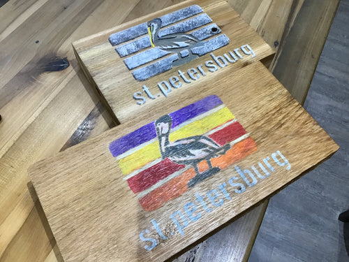 Detailed St. Pete Wooden Rustic Sign