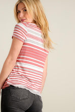 Load image into Gallery viewer, Mauve Stripe Design Blouse