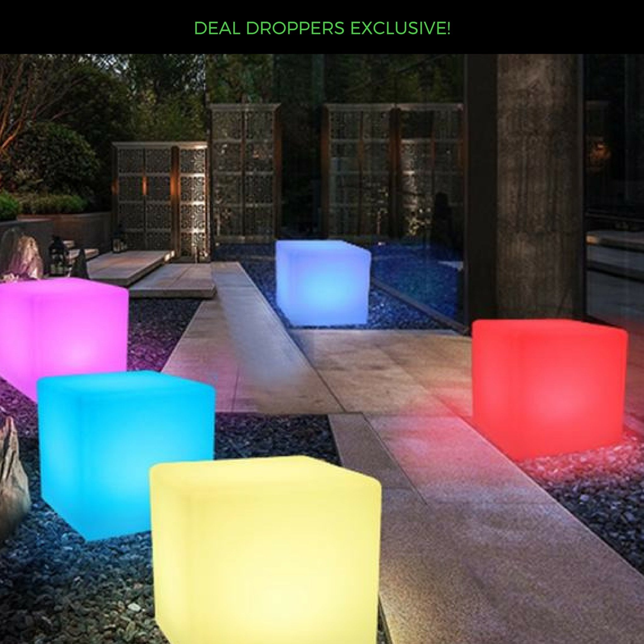 Neon Cube Table Light