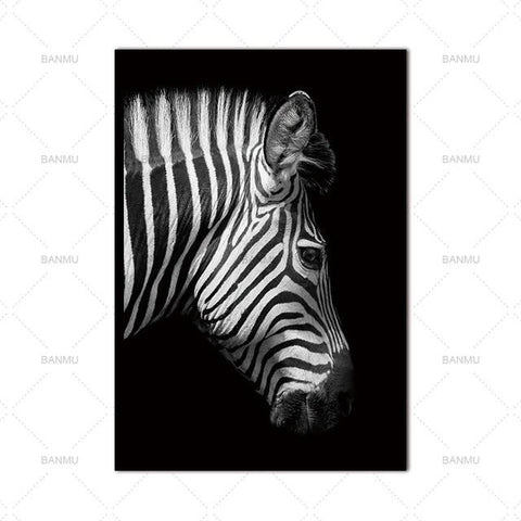 Black & White Animal Wall Art
