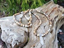 Load image into Gallery viewer, Picture Jasper & Crystal Quartz 108 Yoga Mala Prayer Necklace