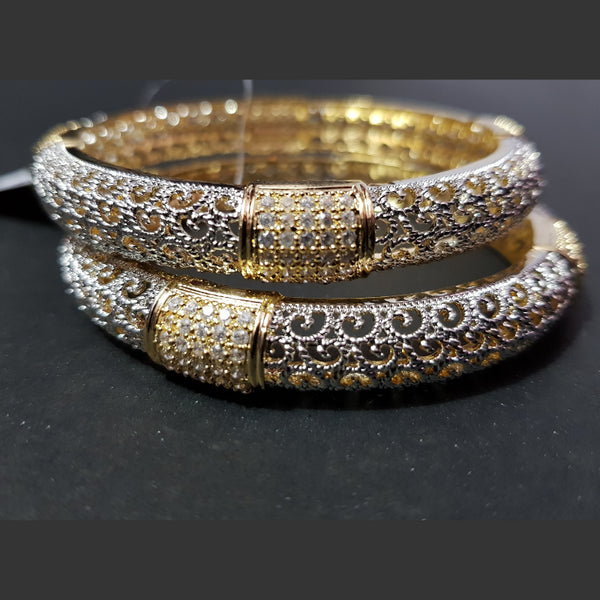 Golden Silver AD Bangles Set