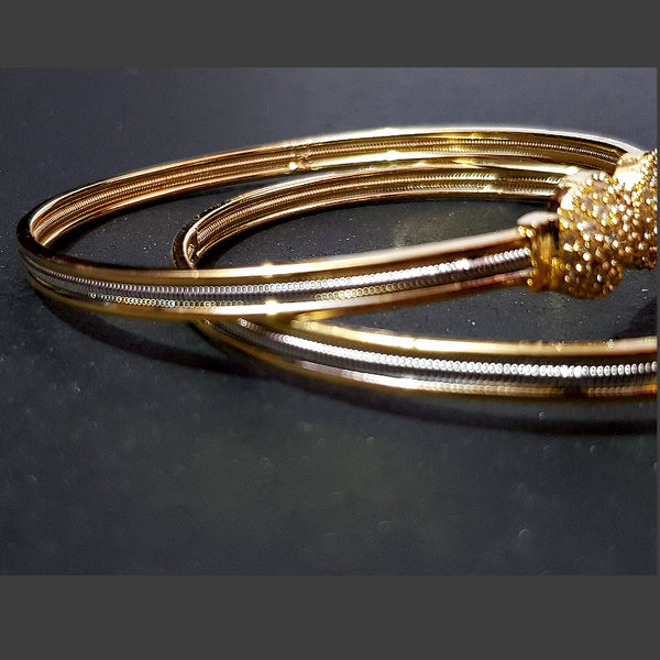 Golden and Silver combination AD Bangles Set