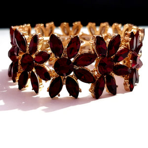 Golden Maroon Color Crystal Stone Bracelet