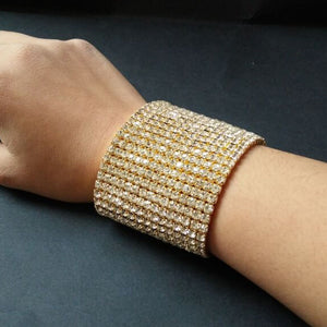 Luxury Crystal Rhinestone Bracelet Bangle for Women Stretchable