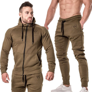 Men tracksuit Sweatshirt with Sweatpants Sport Suit for Running Gym