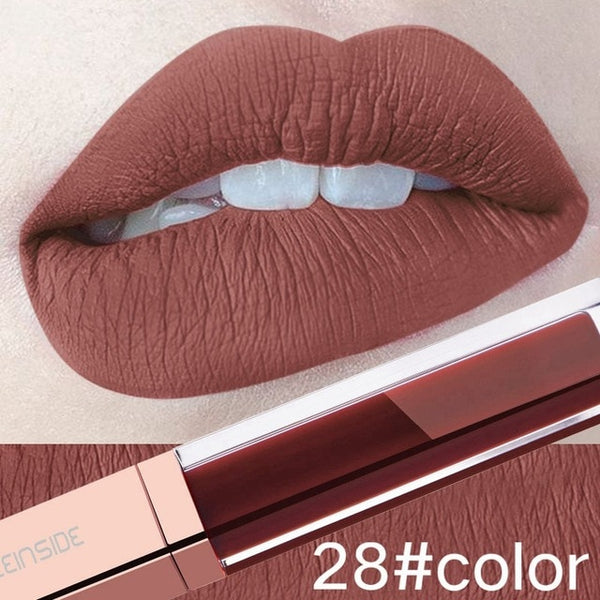24 Color Ultra Matte Liquid Lipstick Waterproof, Long Lasting Nude Lipstick