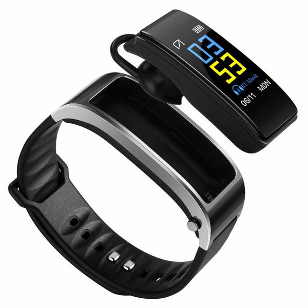 Y3 Color Smart Watch with Earphone 2-in-1 Talkband with heart rate monitor, Steps Meter, Fitness Tracker Wristband