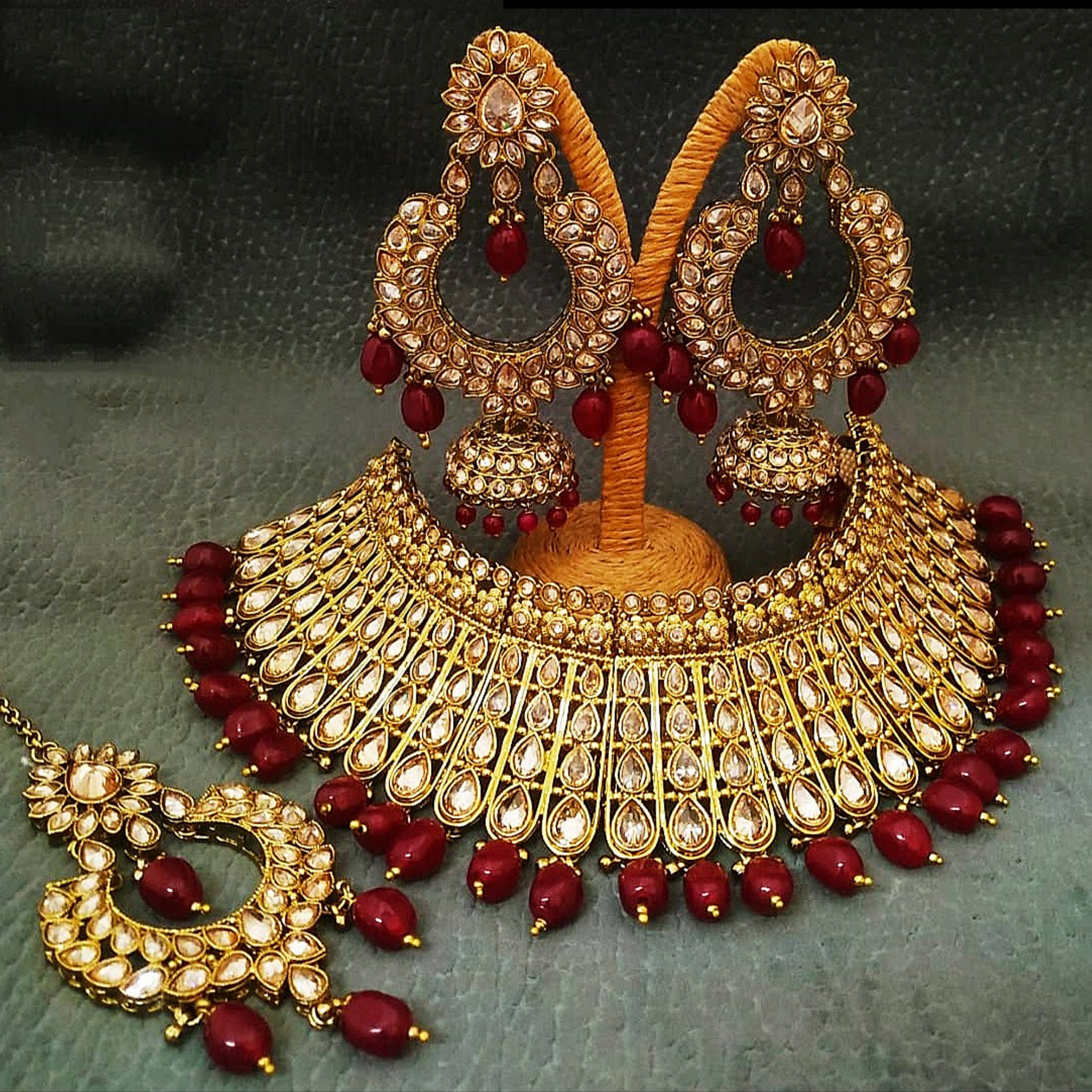 Kundan Choker Necklace Gold Plated Exclusive Design Bridal Jewellery Set
