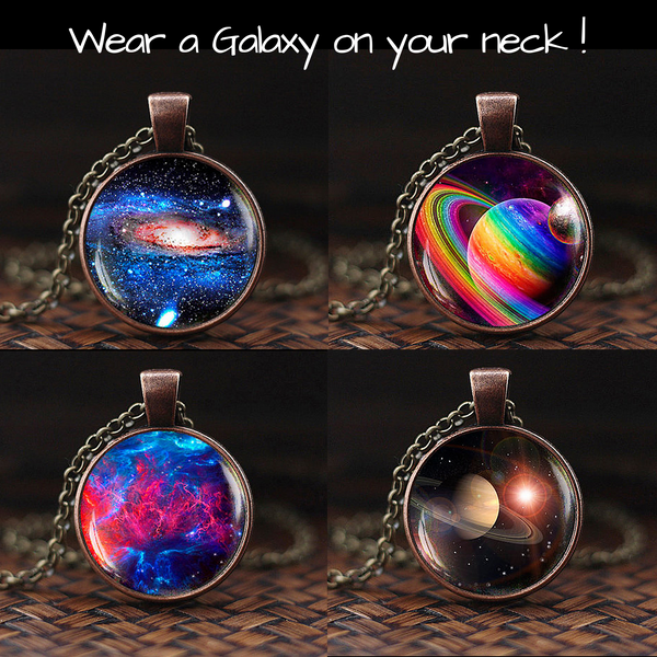 Wear a Galaxy Crystal Ball Pendant 9 Designs
