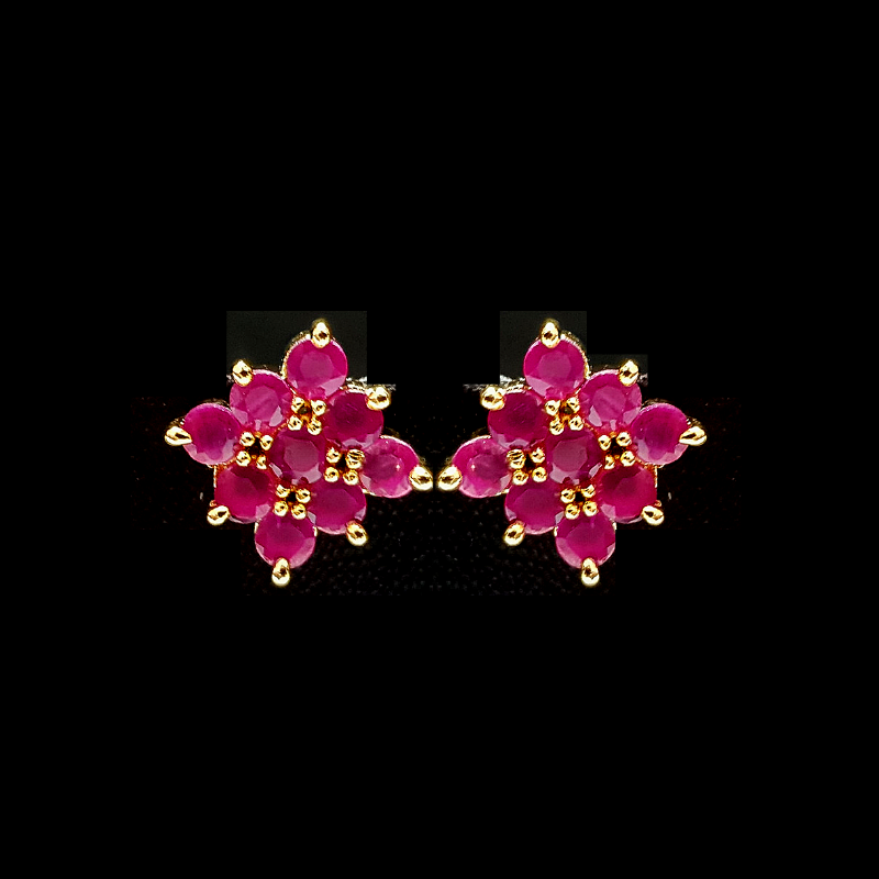 Pink Golden- Contemporary Handcrafted Tops Earrings